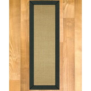 "Handcrafted Hibiscus Metal Sisal Carpet Stair Treads 9"" x 29"" (Set of 13)"