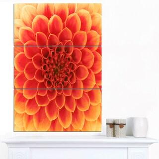 Designart 'Abstract Orange Flower Design' Extra Large Floral Canvas Art