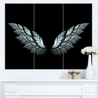 Designart 'Angel Wings on Black Background' Abstract Art Canvas