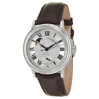 Raymond Weil Men's Stainless Steel Case Leather Strap Maestro 2839-STC-00659 Automatic Moonphase Watch