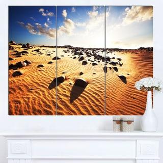 Designart 'Beautiful Rocky Sand Desert' African Landscape Art Print Canvas
