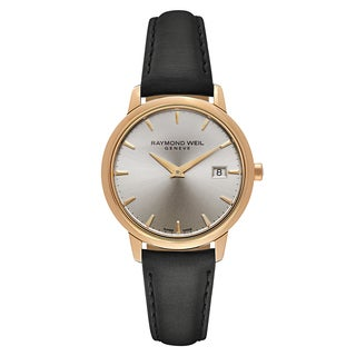 Raymond Weil Women's Rose Gold PVD Coated Stainless Steel Case Satin Strap Toccata 5388-PC5-65001 Swiss Quartz Watch