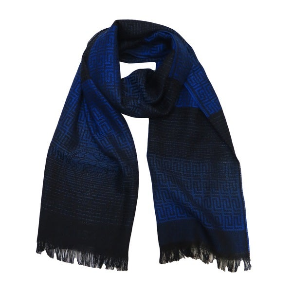 666d540ebb Versace Collection Medusa Ombre Blue Wool Scarf