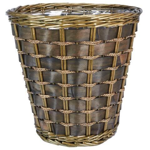 Medium Haven Willow and Poplar Waste Basket