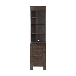 Magnussen Home Furnishings Pine Hill Bunching Rustic Pine Cabinet Bookcase