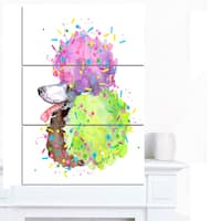 Designart 'Cute Brown Dog with Color Spheres' Contemporary Animal Art Canvas