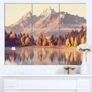 Designart 'Grand Teton National Park' Oversized Landscape Canvas Art
