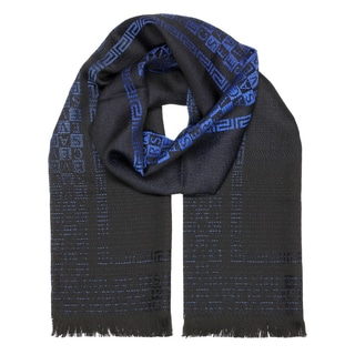 Versace Collection Blue Ombre Logo Scarf
