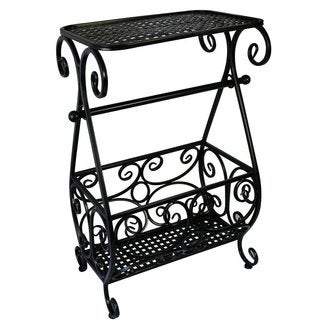 Ikee Design Metal Toilet Paper Holder and Bathroom Organizer Rack