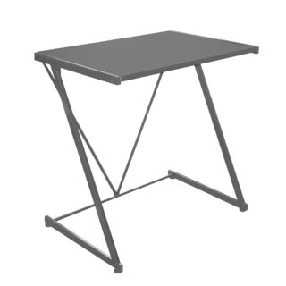 Black Metal Z-shaped PVC-coated Writing Desk