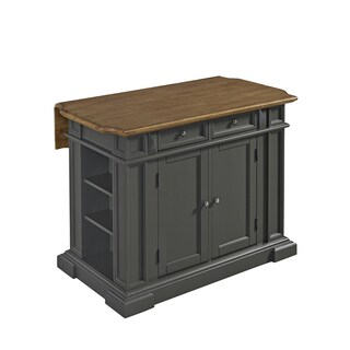 The Curated Nomad Grodin Grey Kitchen Island