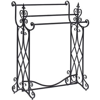 Ikee Design Elaborate Scrollwork Metal Towel Rack
