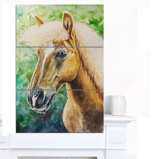 Designart 'Large Hafliner Horse' Animal Wall Art Print