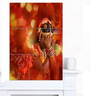 Designart 'Bride in Typical Hindu Wedding' Modern Portrait Canvas Art
