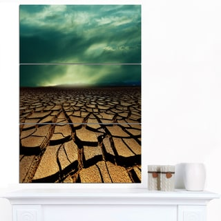 Designart 'Drought Land under Dramatic Blue Sky' African Landscape Print Wall Art