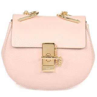 Chloe Drew Small Rose Leather Crossbody Handbag