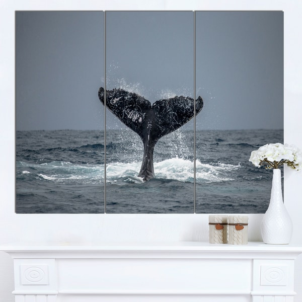 designart large humpback whale tail oversized animal wall art