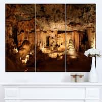 Designart 'Dark Cango Caves South Africa' Extra Large African Landscape Canvas Art