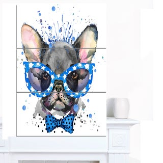 Shop Designart Cute French Bulldog With Glasses Animal