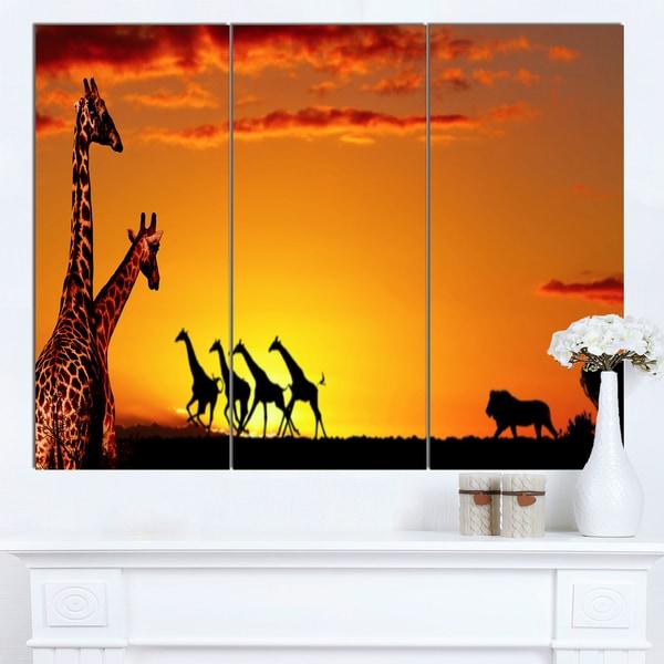 Designart 'Beautiful African Wildlife Concept' African Canvas Artwork