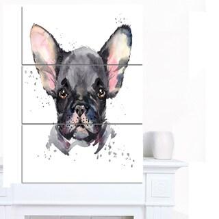 Designart 'Cute Watercolor Puppy Dog' Animal Canvas Wall Art