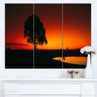 Designart 'Sunset View in Tanzania' Extra Large African Landscape Canvas Art