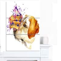 Designart 'Cute Labrador Dog Watercolor' Animal Canvas Wall Art