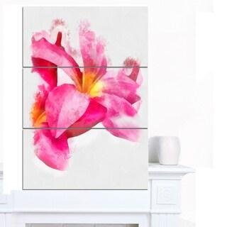 Designart 'Beautiful Flowers with Big Pink Petals' Extra Large Floral Canvas Art