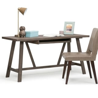 WYNDENHALL Stewart Driftwood Finish Home Office Desk