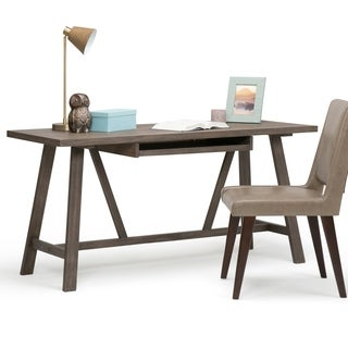 WYNDENHALL Stewart Home Office Driftwood Finish Desk