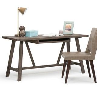 WYNDENHALL Stewart Sawhorse Solid Wood Home Office Desk
