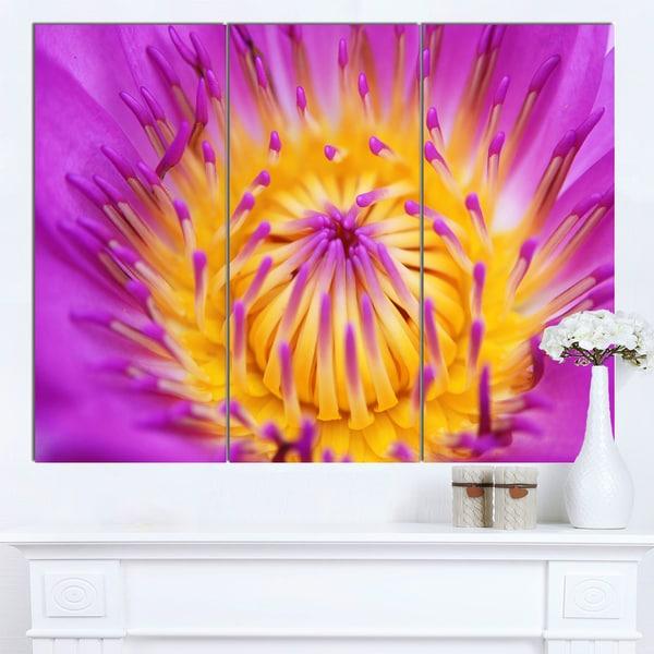 Designart pink yellow abstract lotus flower flowers canvas wall designart x27pink yellow abstract lotus flowerx27 flowers canvas wall mightylinksfo