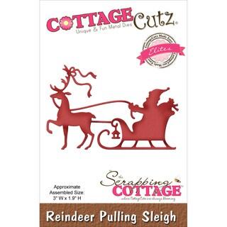 "CottageCutz Elites Die -Reindeer Pulling Sleigh 3""X1.9"""