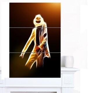 Designart 'Moonwalker in Dance Style' Modern Portrait Canvas Art