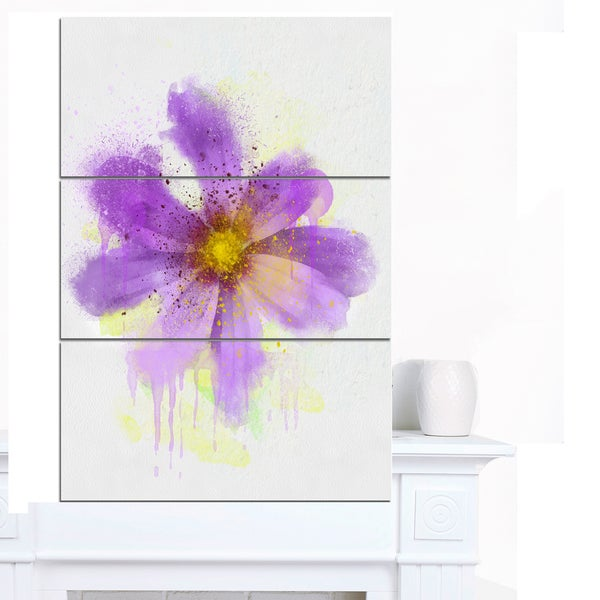 Designart X27 Purple Flower With Large Petals Flowers Canvas Wall