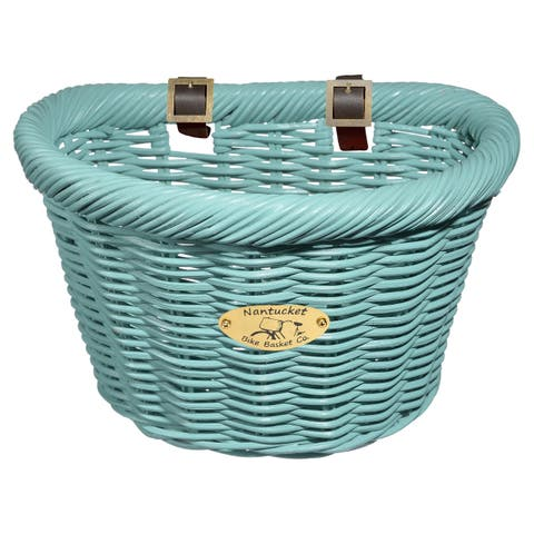 Nantucket Bicycle Basket Co. Adult Rattan D-shape Cruiser Basket
