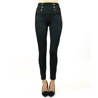 Women's Indero Polyester Blend High Waist Denim Jeggings