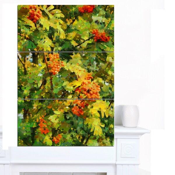 Designart 'Floral Pattern with Palette Knife' Flower Artwork on Canvas