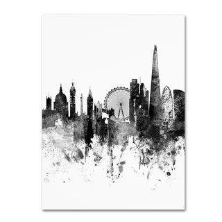 Michael Tompsett 'London Skyline Tall B&W' Canvas Art