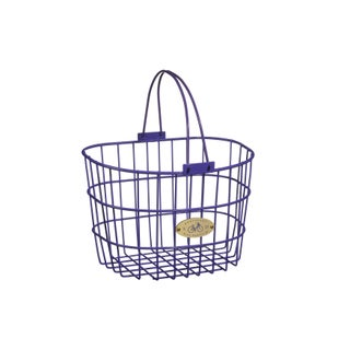 Nantucket Bicycle Basket Co. Surfside Adult Wire D-Shape Basket (Option: Purple)