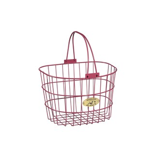 Nantucket Bicycle Basket Co. Surfside Adult Wire D-Shape Basket (Option: Purple)