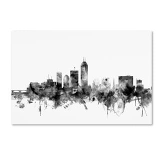 Michael Tompsett 'Indianapolis IN Skyline B&W' Canvas Art