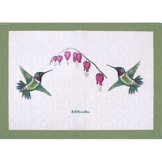 Betsy Drake Hummingbirds Multicolor Poyester Placemats (Pack of 4)