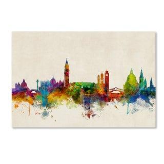 Michael Tompsett 'Venice Italy Skyline Beige' Canvas Art