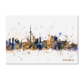 Michael Tompsett 'Toronto Canada Skyline Purple' Canvas Art