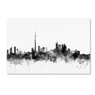 Michael Tompsett 'Toronto Canada Skyline B&W' Canvas Art