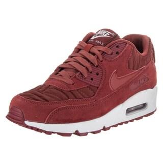 Nike Women's Air Max 90 Premium Dark Cayenne Red Textile Running Shoe
