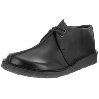 Clarks Men's Desert Trek Black Leather Casual Shoes