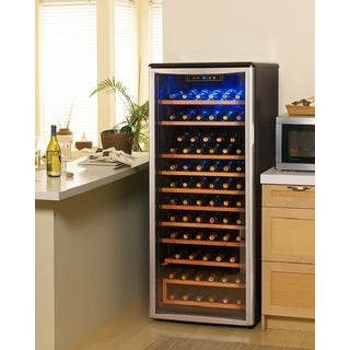 Danby – 75 Bottle Stainless Steel Free-Standing Wine Cooler