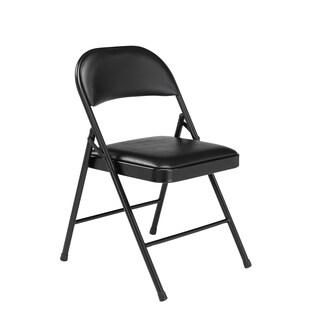NPS Commercialine Vinyl Padded Folding Chair (Pack of 4)